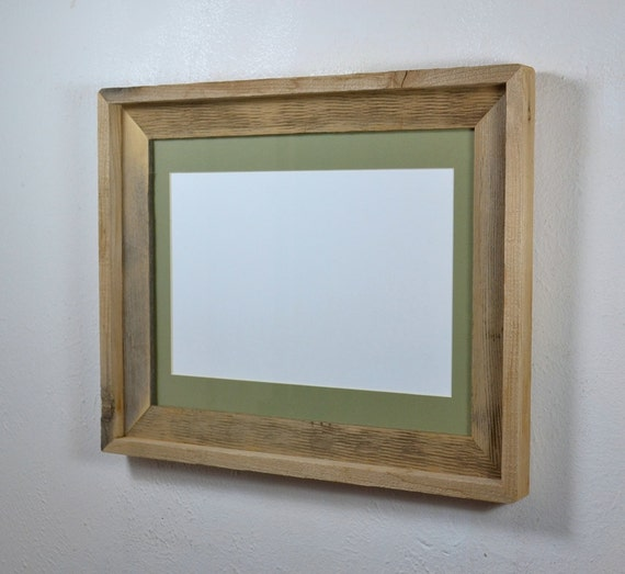 11x14 Eco Friendly Wood Picture Frame With Light Green 8x10