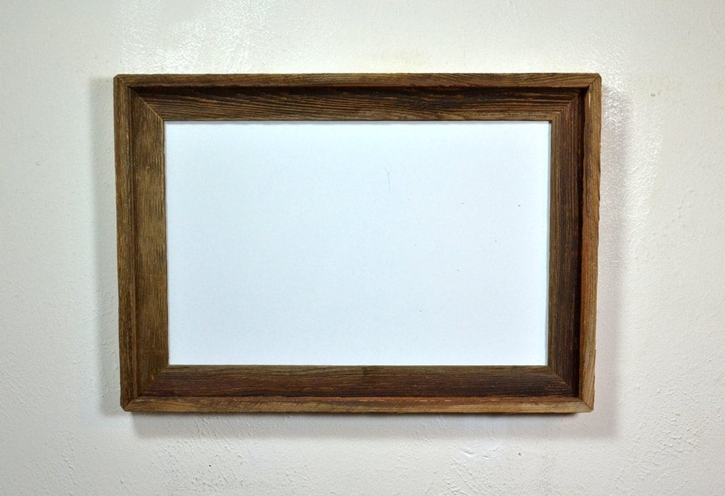 11x17 Wood Poster Frame With A Beautiful Brown Patina