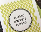 Letterpress Card - Home Sweet Home