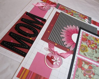 Scrapbook Premade Pages Mothers Day - kitsnbitscraps