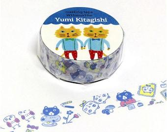 Yumi Kitagishi Cat Masking Tape • Your Letter Japanese Washi Tape (37-614)