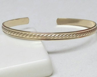 Gold Celtic Cuff Bracelet , Gold Cuff Bracelet , 6 in 14k Gold Fill  Cuff , Open Bangle Bracelet, Celtic Bracelet by Maggie McMane Designs