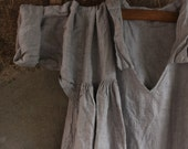 ON SALE Soft Grey Linen Dress