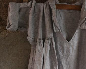 Soft Grey Linen Dress
