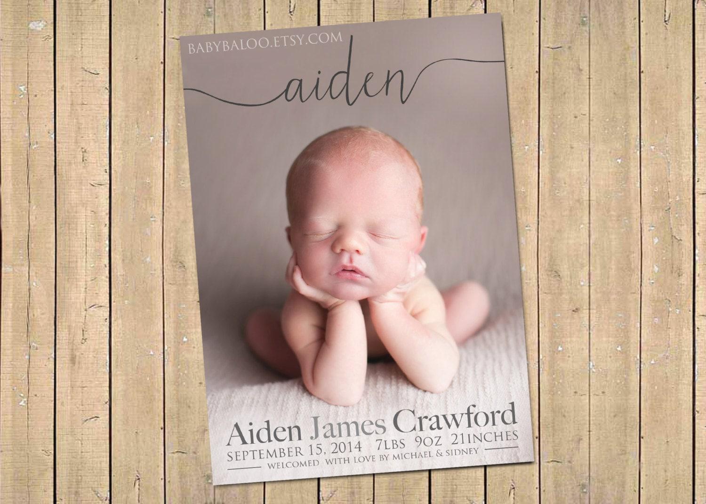 Newborn baby girl – Birth Announcement Cards Australia