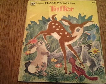 Vintage 1959 Fuzzy Wuzzy Golden Book  Tuffer
