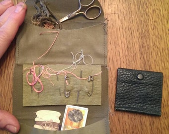 Vintage Military Sewing Kit With Scissors