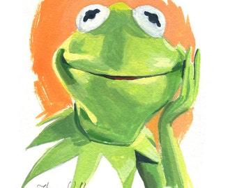 Kermit The Frog  (Fine Art Print not a real Muppet)
