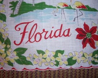 Vintage State of Florida Hanky - Handkerchief Hankie