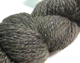 1 Skein Hand Spun Art Yarn Olive