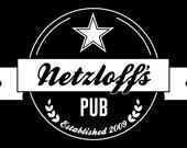 "Netzloff's Pub 20""x 30"" Custom Mirror"