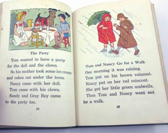 In City and Country Vintage 1930s or 1940s Children's School Reader or Textbook by Silver Burdett Co.