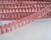 5 yards  Mini  Fringe Trim Tassel Trim  - Number 29 Rose Pink