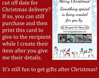 Personalized Christmas Ornament, Gift Card, Soldered Glass, Wedding Charm, Photo Charm, Keychains Custom Made To Order