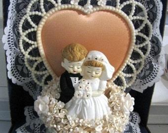 Valentines Day Sale Wedding Cake Topper, Vintage Wedding Cake Topper, Bride, Groom, Antique, Unique, Wedding, Marriage, Cake, Wedding Cake T