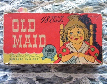 Vintage 1930's Old Maid Game Complete Small Cards