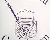 Keep Calm Carry Yarn vinyl decal for CROCHETERS