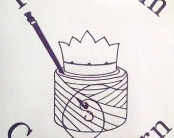 Vinyl Decal, Keep Calm Carry Yarn for CROCHETERS
