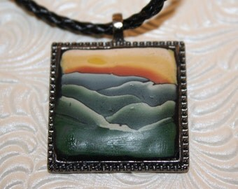 Smoky Mountain Sunset Pendant
