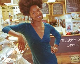 Sale // Tea Dress // Long Sleeve Hemp Knit // Lightweight // Cool Coverage
