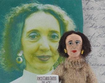 Joyce Carol Oates Doll Miniature Art American Author Art Collectible