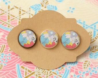 10 pcs handmade flower - earrings, pendant, ring - 12mm (PW 0210B)