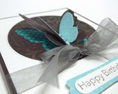 Happy Birthday Butterfly Card - blank