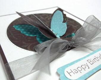 Happy Birthday Butterfly Card - blank