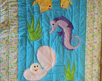 Under the Sea with purple Seahorse
