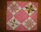 Antique Quilt Piece | Vintage Quilt Piece |  Old Quilt PIece |  Cutter Quilt Piece 10.5 X 10.5