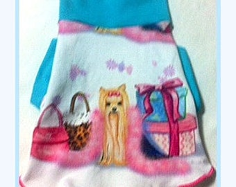 Dogs and Purses Spoonflower Pet Clothing All Done and Ready To Ship