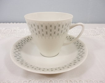 """Porsgrund """"Risotto"""" Norwegian Coffee/Tea Cup and Saucer"""