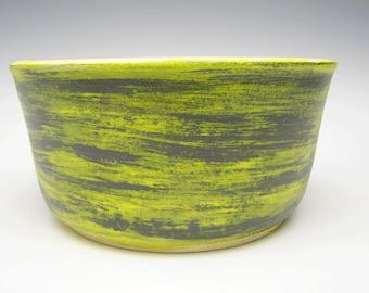 Succulent planter  contemporary Ceramic cactus planter pot bonsai planter pot herb planter Black and Yellow 7 x 3 1/2  erp4