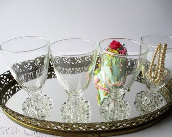 Vintage Anchor Hocking Boopie Juice/Wine Glasses Set of Four - Mid Century