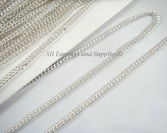 25ft Silver Twisted Curb Chain Plated Iron 3.5x2.3mm Not Soldered - 25 feet - STR9057CH-S25 - M