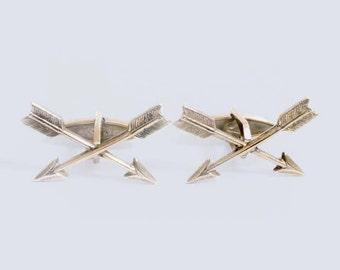 Crossed Arrow Cuff Links