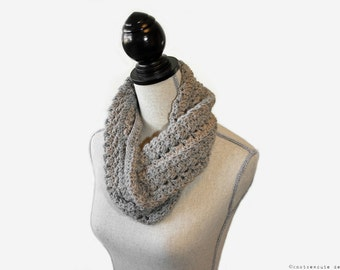CROCHET PATTERN - French Twist Cowl - Instant Download (PDF)