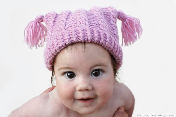CROCHET PATTERN - Baby Cables Hat - Instant Download (PDF)