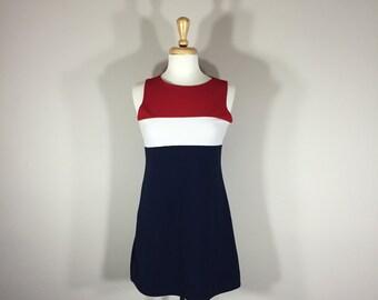 Red White Blue dress, Tank dress, Jalate dress, Tennis Dress, Cover up dress, Athletic dress, Sport dress,