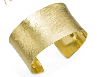 Exquisite Stunning SOLID 24K Gold  Hammered Gold Cuff 120 grams