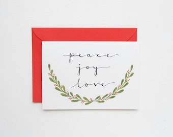 Hand Lettered & Illustrated Christmas Card