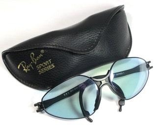 Ray Ban Sunglasses Sports Series 1 1735 UV Lenses W. Case Vintage Ray Ban Retro 80s 70s