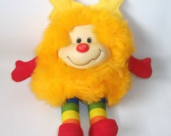 Vintage Rainbow Brite Yellow Spark Sprite Doll 1983
