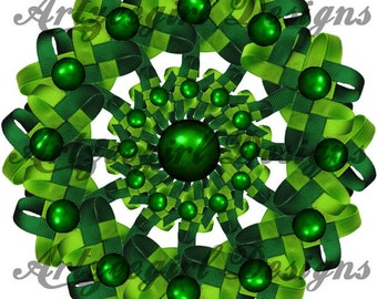 Green Clovers, Mandala