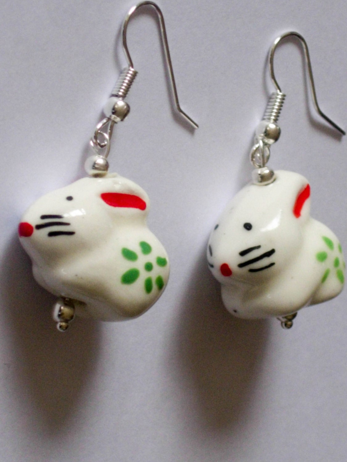 bunny earrings rabbit earrings bunny earrings easter earrings 2690