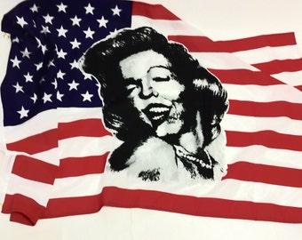 Vintage MARILYN MONROE American Flag