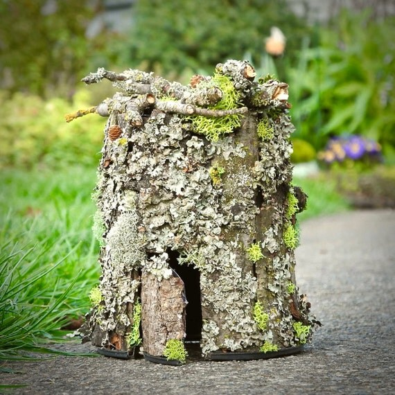 Fairy House Supplies Mossy Fairy House Branches Bark For