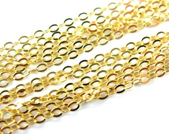Gold Chain,Gold Plated Chain,Vermeil Chain,Sterling Silver Chain,Unfinished Bulk Chain(100 feet) 20%OFF-Wholesale Chains- SKU: 101043-VM