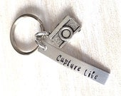 Capture Life keychain, photographer gift, camera keyring, gift for photographer, valentines day, valentines gift, inspirational keychain