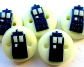 "Ready to ship Tardis 5 3/4"" buttons"